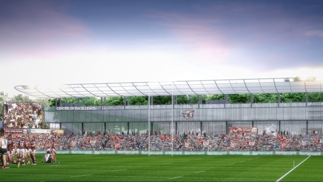 The new Centre of Excellence will include a 3000 seat grandstand.